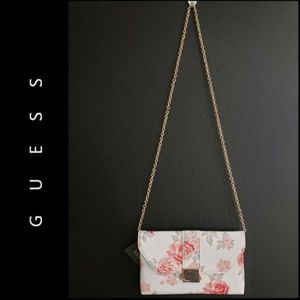 Guess Woman Sling Clutch Floral